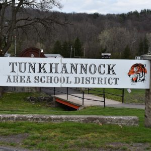 Tunkhannock Area School District sign